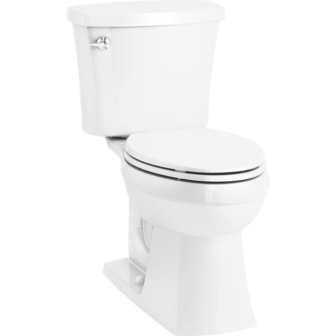 Kohler Elongated 2-Piece Toilet - Elliston - 4.8 L - White