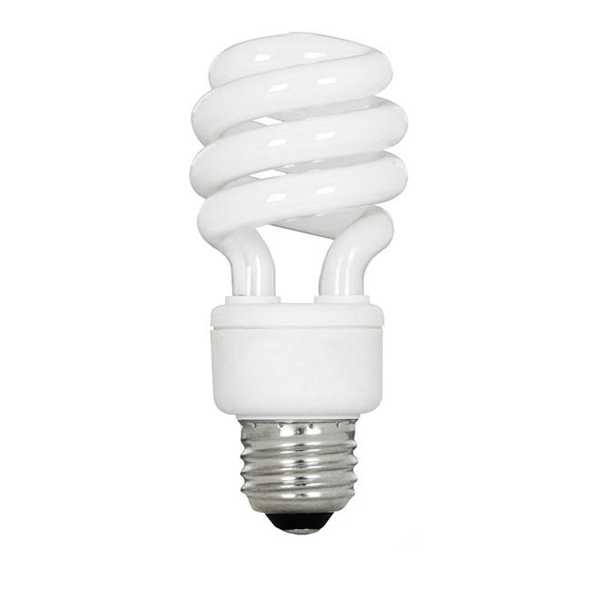 Compact Fluorescent Bulb 13 W - Non Dimmable Soft White - 6PK