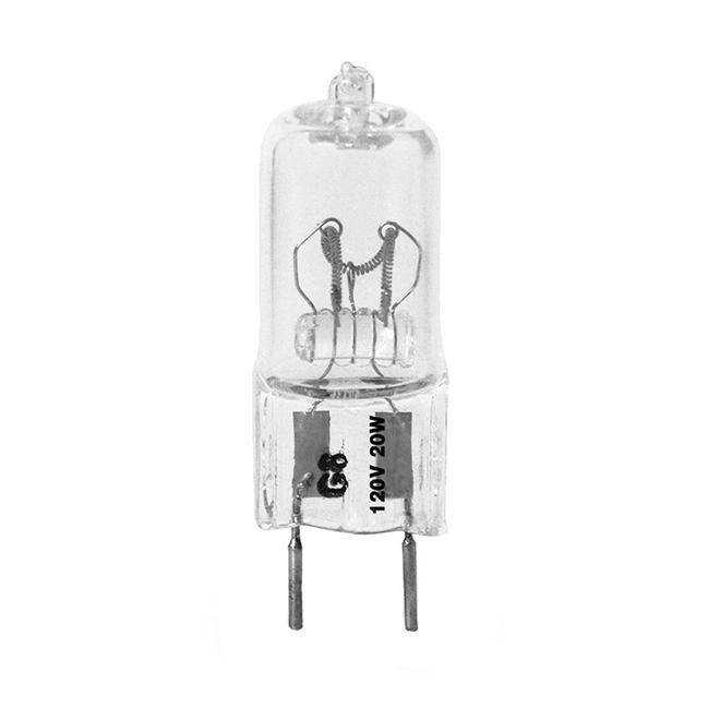 Ampoule halogène T4, 20 W, intensité variable, blanc éclatant