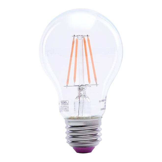 Ampoule DEL A19 E26, 3,6 W, rose