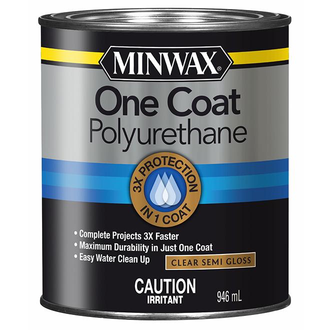 One Coat Polyurethane Finish - 946 mL - Clear Semi-Gloss
