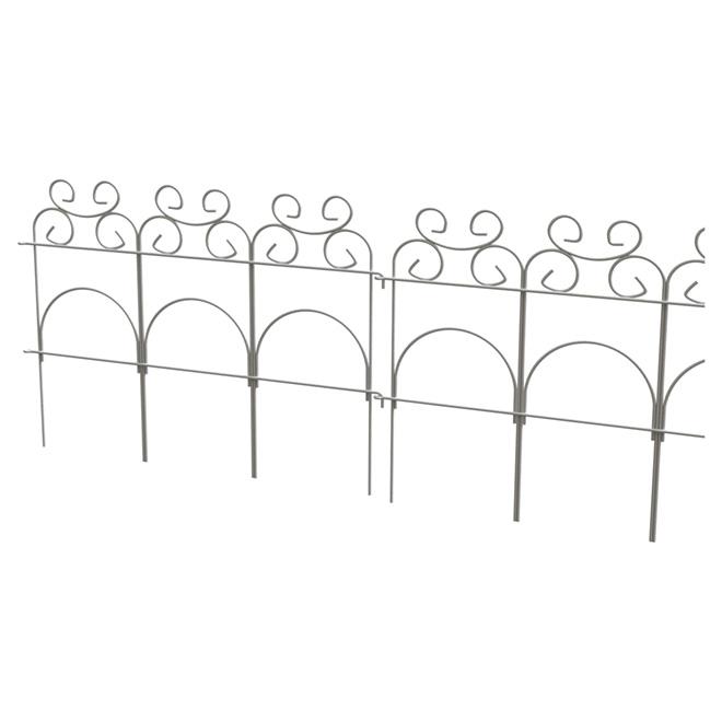 Clôture décorative pliable en acier, 14\
