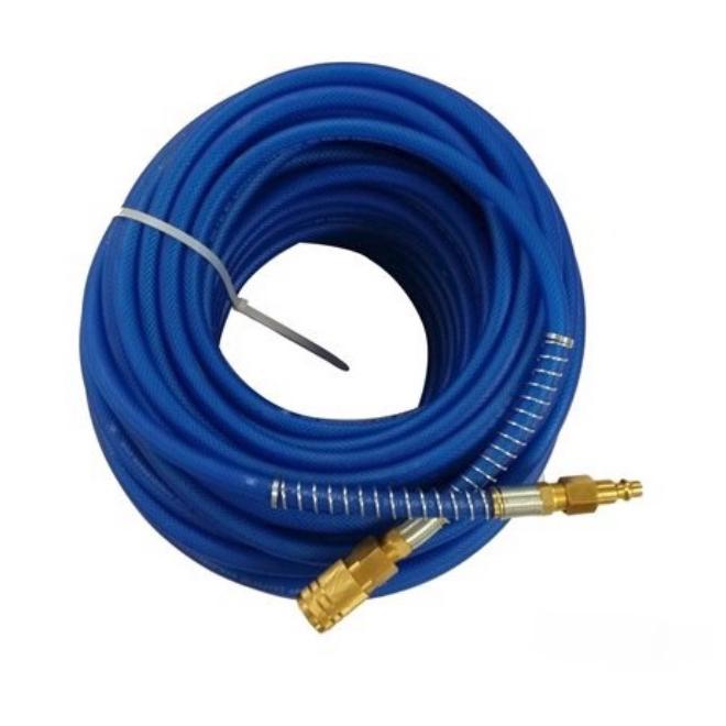 "Tuyau à air en polyuréthane, hybride, 1/4"" x 50', bleu"