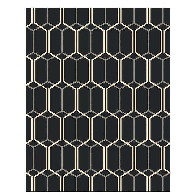 Tapis intérieur et extérieur Allen + Roth, 7,10 pi x 10 pi, gris chevron
