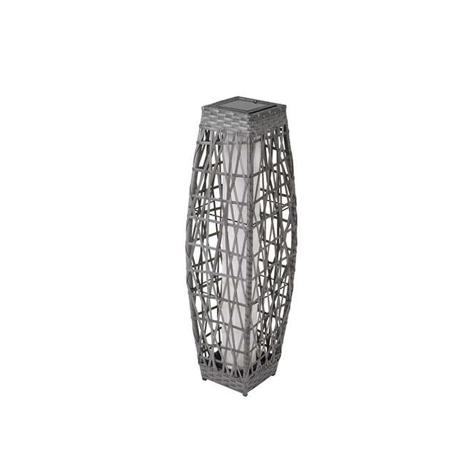 Allen + Roth Savona Solar Lantern - LED - 30.7-in - Grey