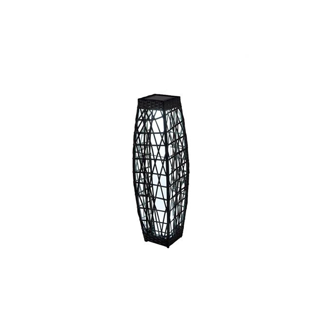 Allen + Roth Savona Solar Lantern - LED - 30.7-in - Brown