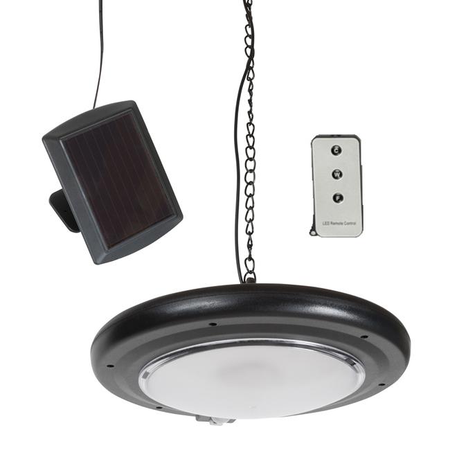 Suspension solaire DEL Fusion Products, avec télécommande pour abri de jardin, noir