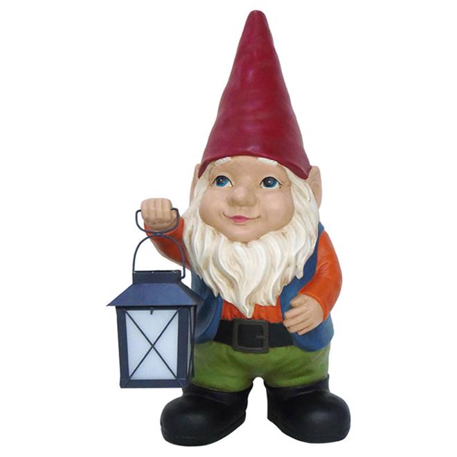Garden Treasures Gnome with Lantern - 20-in