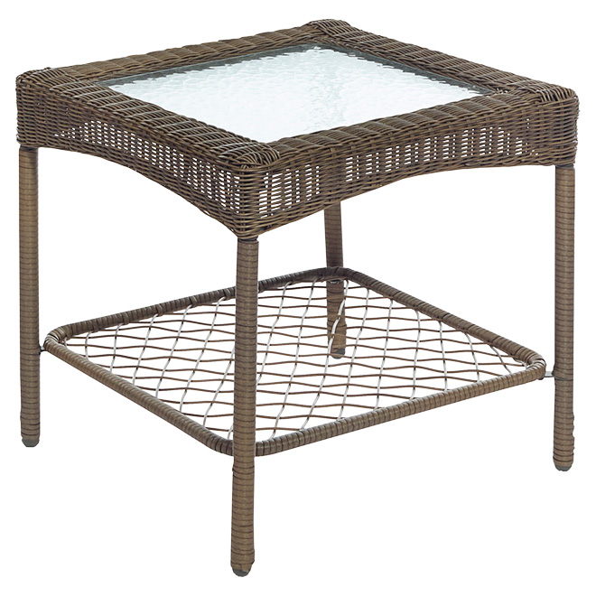 Claremont Square Patio Side Table 22 Brown