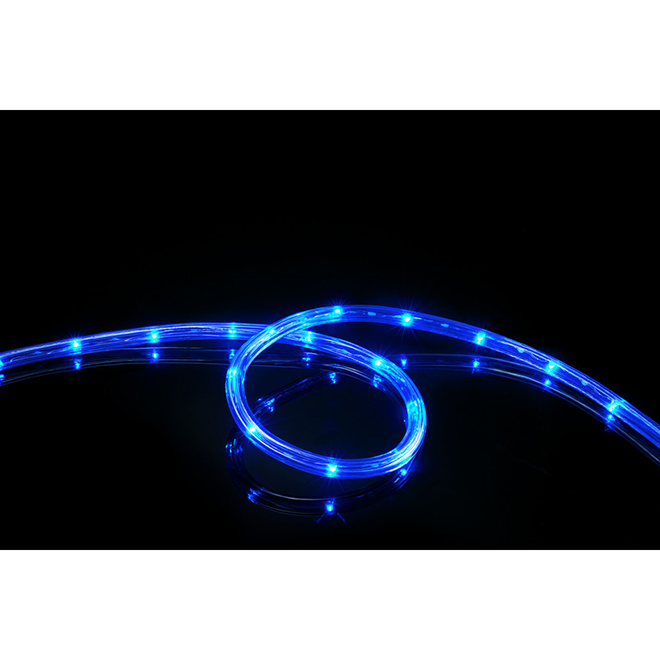 LED Light Rope - 15' x 76 Lights - Blue