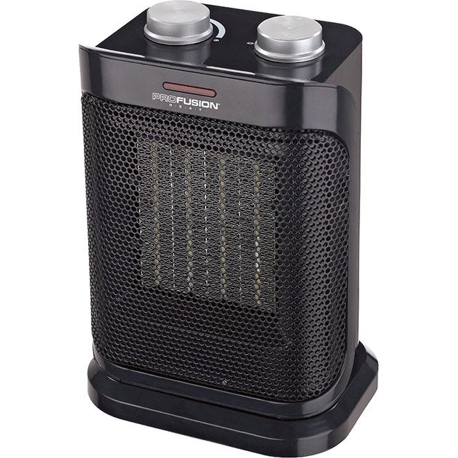 Radiateur à céramique portable, 1500 W, noir
