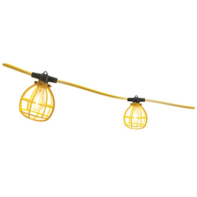 Éclairage de chantier à 5 lumières Woods, 25', jaune