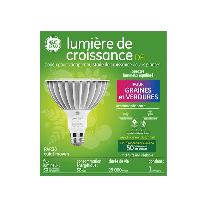 Ampoule de croissance DEL, GE, PAR 38, 32 W