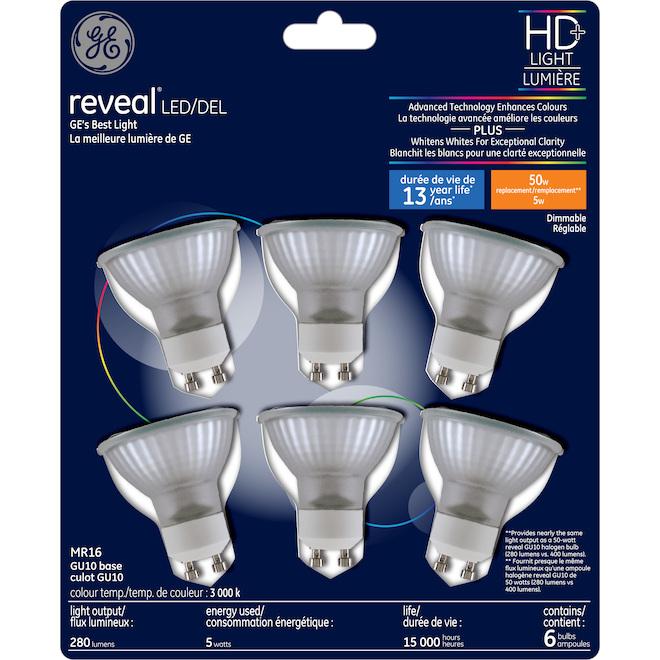 Reveal LED Bulb - MR16 - 5 W - Pack of 6