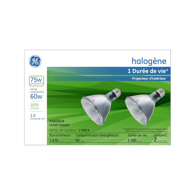 GE Halogen Bulb - PAR30L - 60 W - 2/Pck - Soft White