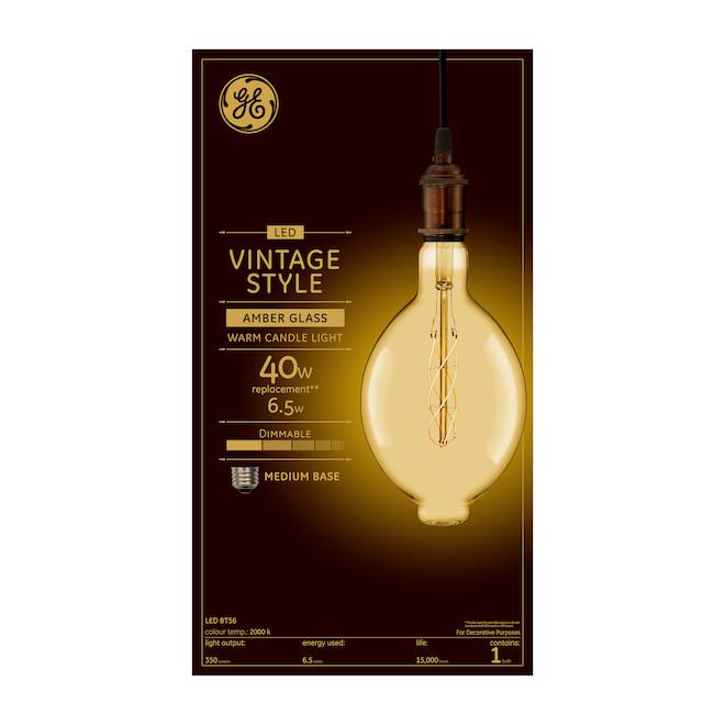 Ampoule DEL GE, BT56, 6,5 W, 1/pqt, chandelle