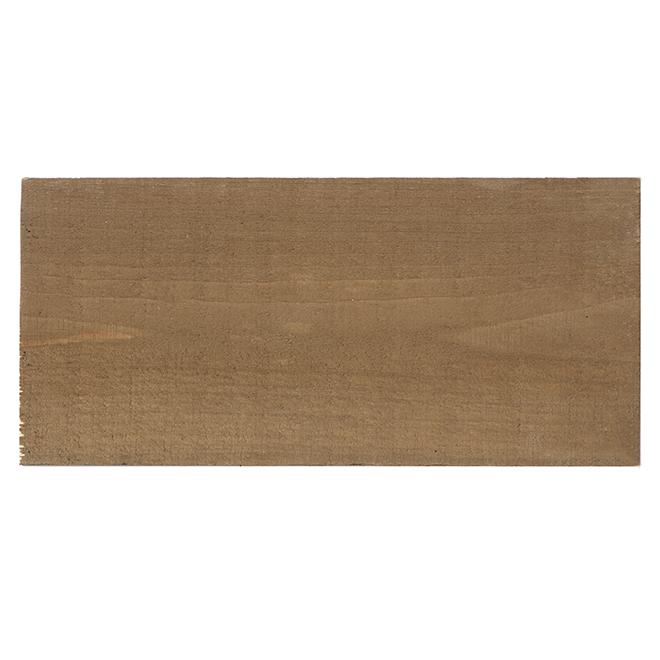 """1"""" x 4"""" x 8' Revêtement mural en pin rouge, brun foncé"""