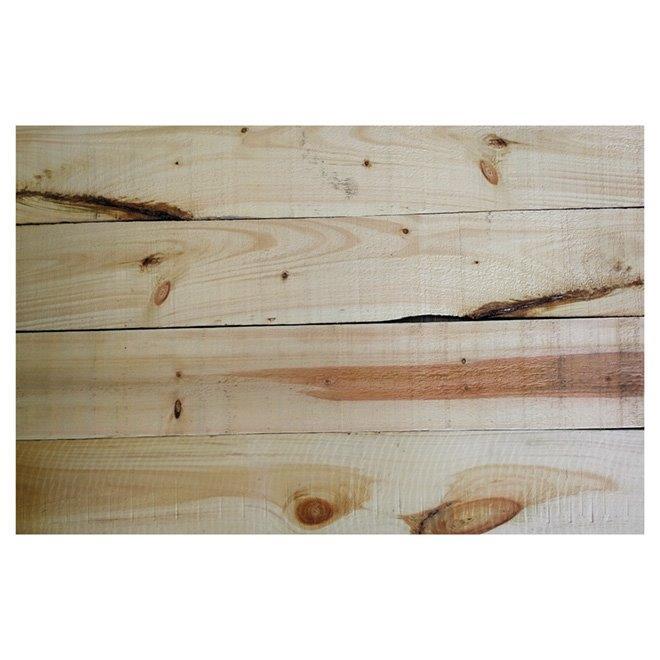 Revêtement intérieur, pin blanc vieilli, 6'