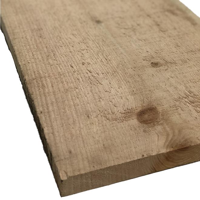 "Rough White Pine - 1"" x 12"" x 6' - Natural"