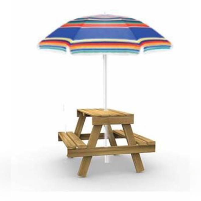 Table à pique-nique pour enfants avec parasol Playstar