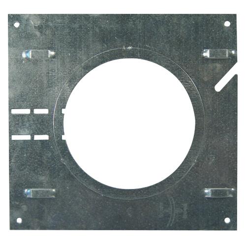 Plaqué pour encastré BAZZ de 6 1/2 po x 6 7/8 po avec ouverture circulaire de 3 7/8 po à 4 1/2 po