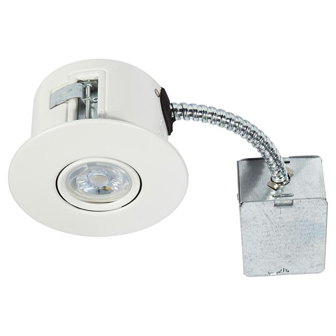 Luminaire encastré orientable, FLEX, DEL 7 W, blanc mat