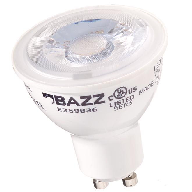 Ampoule DEL GU10 7W, intensité variable, blanc