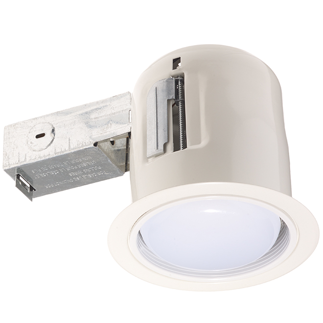 Luminaire encastré pour soffite, DEL PAR30, 4 1/2, blanc mat