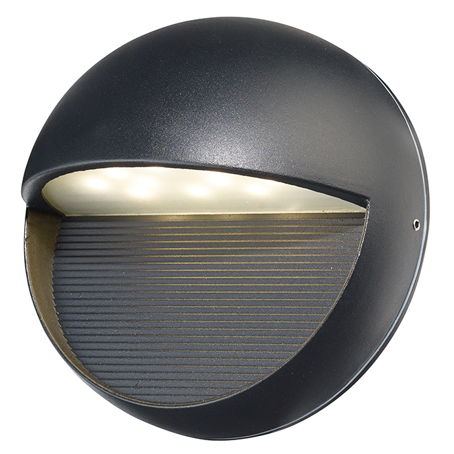 Exil Outdoor Wall Fixture - Integrated LED Light - Black