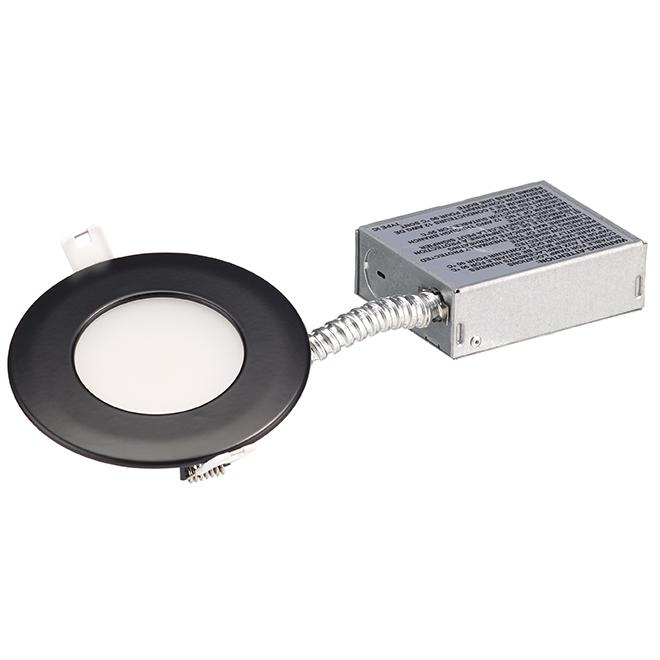 Lumière encastrée Slim, intensité réglable, 11 W, noir mat