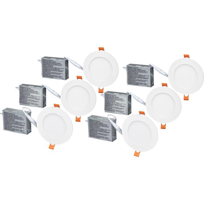 "4 1/4"" LED Recessed Light - 9 W - Matte White - 6/Pack"