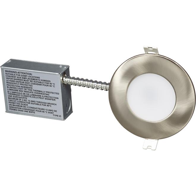 "Luminaire DEL encastré Wi-Fi Mood, 4"", 11 W, acier inox."
