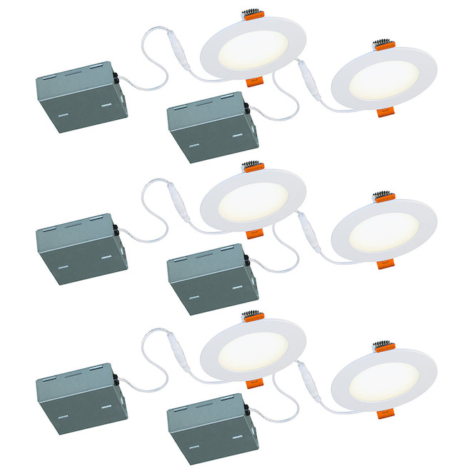 Bazz SLIM Recessed Light - 10 W LED - Matte White - 6/Pack