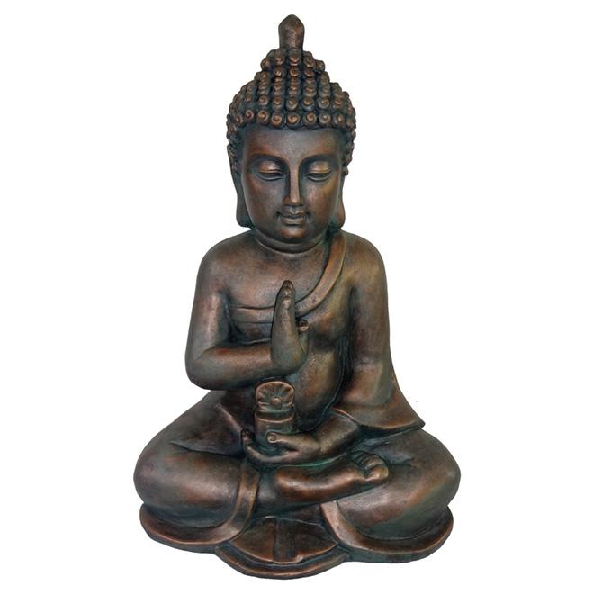 Buddha Garden Statue   Bronze
