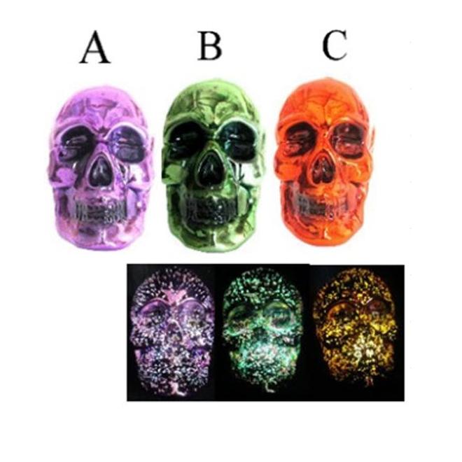 Glass LED Skull - Assorted Colours