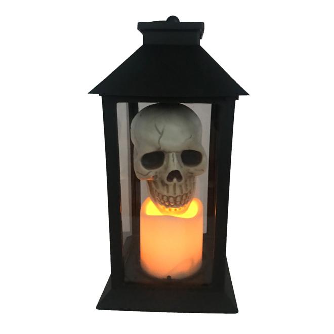Haunted Living LED Lantern with Skull