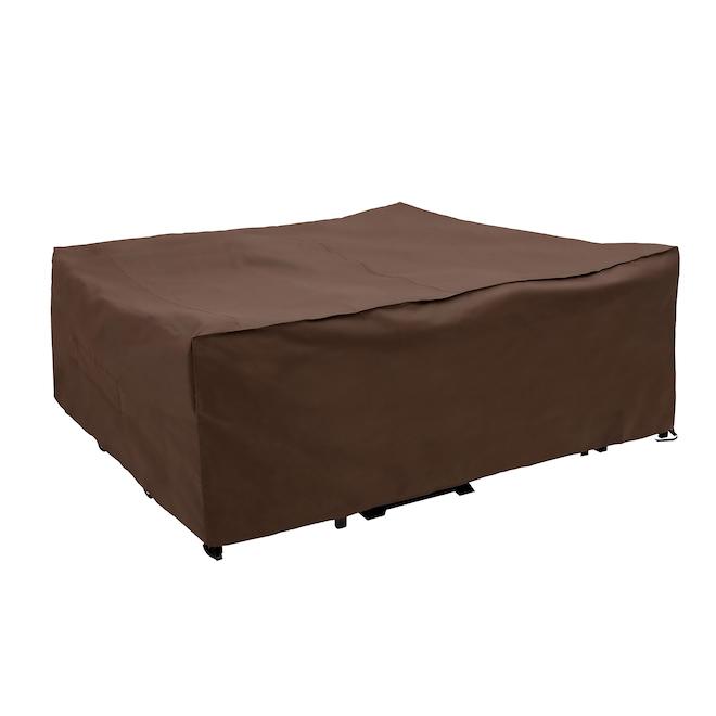 Housse de patio Elemental(MD) de qualité supérieure, 120 po x 90 po x 40 po, brun