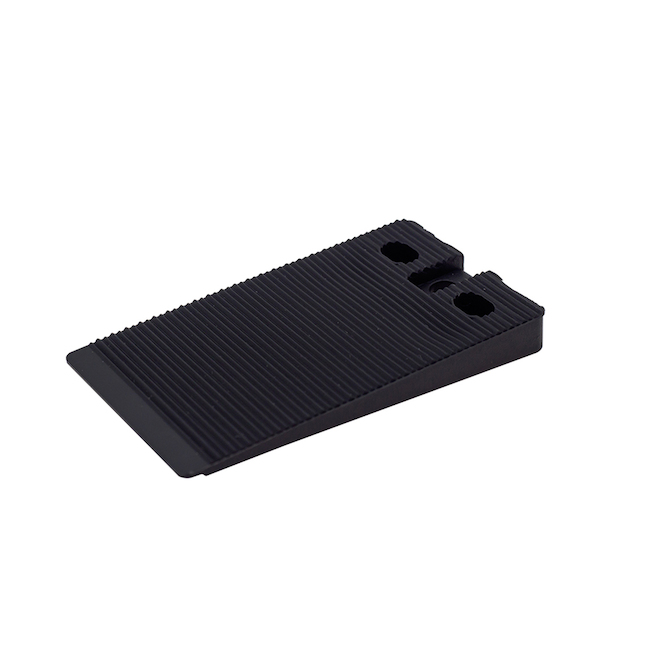 Elemental Level Wedge - Plastic - 2-in - Black - Pack of 10