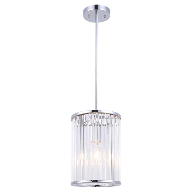 Luminaire suspendu à 1 lumière, Metz, chrome