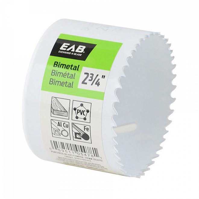 """Scie emporte-pièce EAB Tool bimétal (M3), industriel, échangeable, 2 3/4"""""""