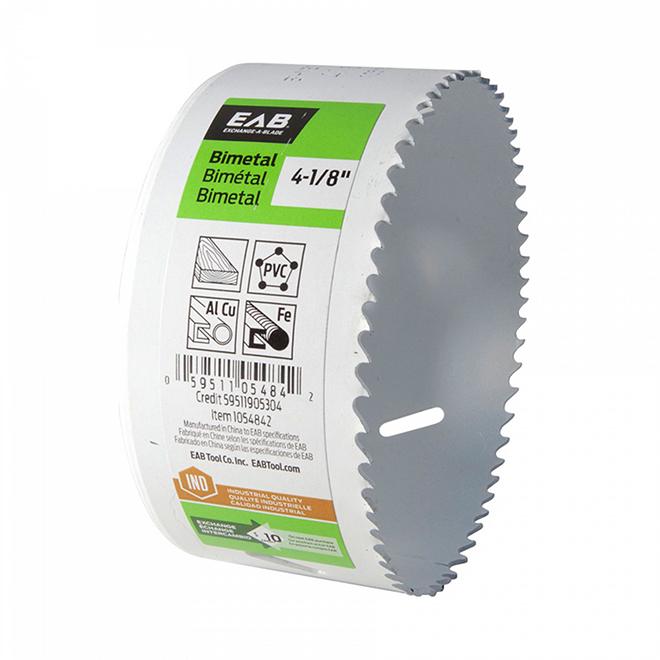 """Scie emporte-pièce EAB Tool bimétal (M3), industriel, échangeable, 4 1/8"""""""