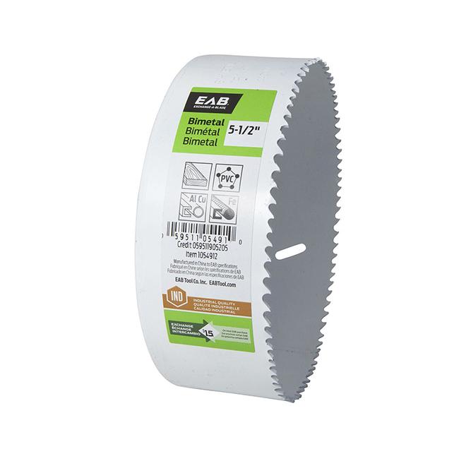Scie-cloche de 5 1/2 po EAB Industriel, bimétal, profondeur de coupe 1 5/8 po, dents M3