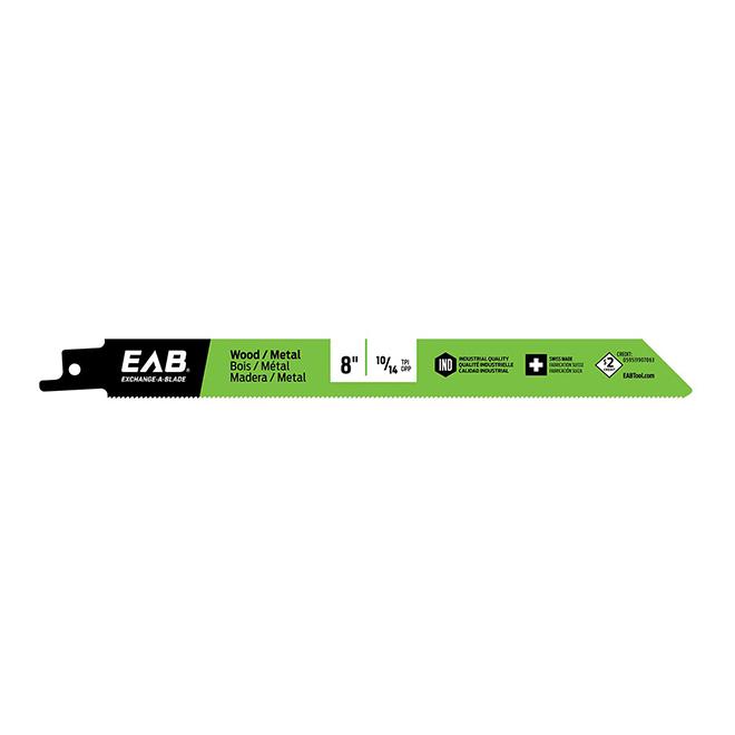Lame de scie alternative coupe précise EAB, 8 po L., 10/14 DPP, acier rapide
