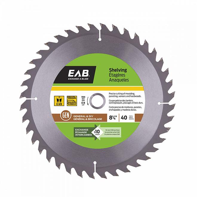 "Shelving Circular Saw Carbide Blade-8 1/4"" -40TH"