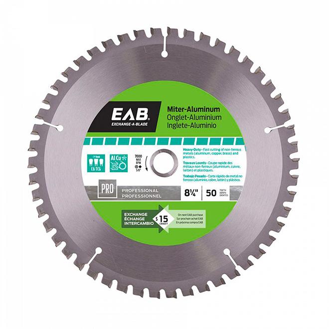 Lame de scie EAB, circulaire, carbure, pour métaux non ferreux, 50 dents