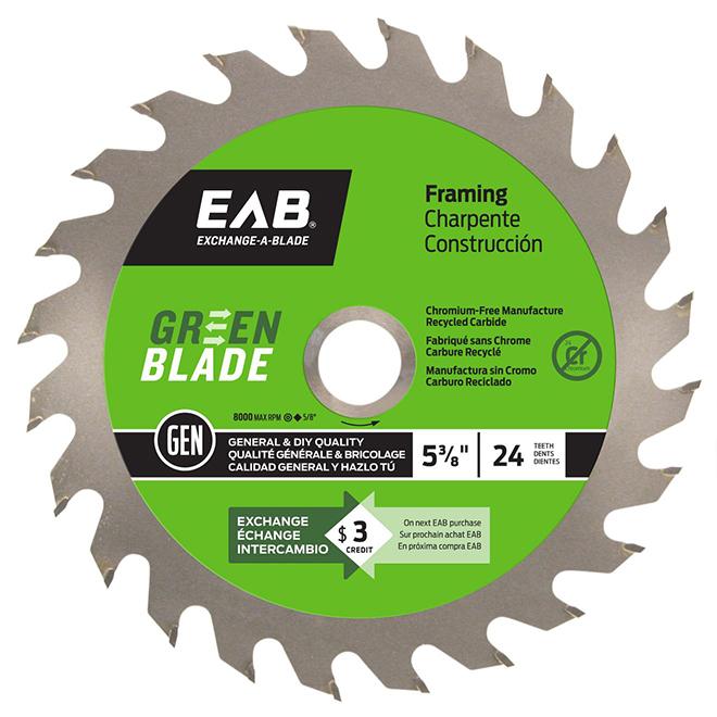 "Carbide Circular Saw Blade - 24 teeth - 5 3/8"""