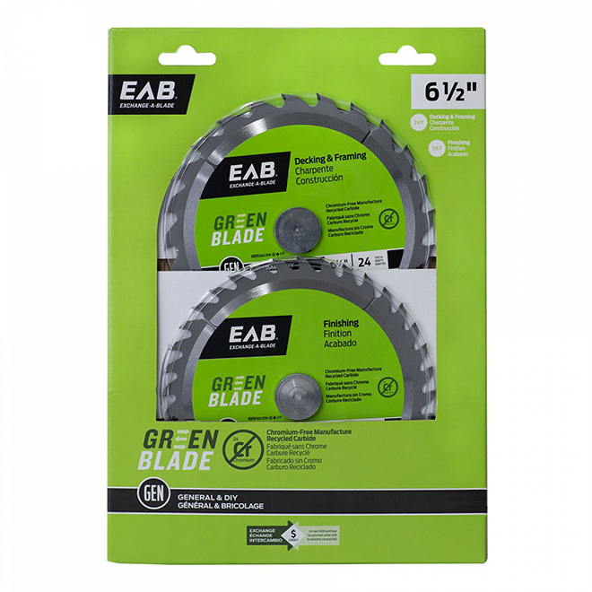 """Green"" Carbide Blades - 6 1/2"" - 2-Pack"