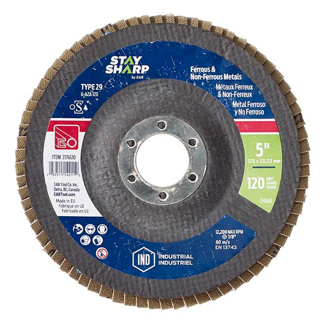 Disque à lamelles Exchange-A-Blade, roue abrasive, oxyde d'aluminium, lame recyclée, grain 120