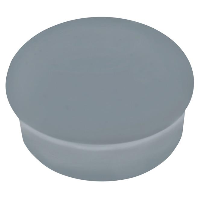 Capuchon plat «Perma-Deck», 1/2'', gris urbain, paquet de 100
