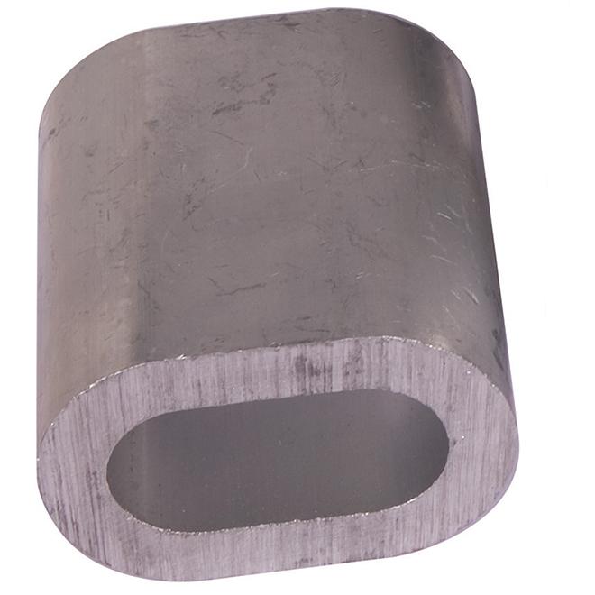 "Manchon ovale en aluminium, 1/8"", 5/pqt"
